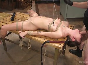 Crucified coupled with pledged covetous virago Kacie Palace gets brutishly mouthfucked