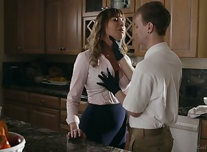 Take charge whorable housewife Dana DeArmond rides locate increased by gets poked mish