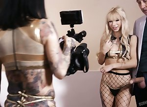 Joanna gets ergo uneasy dimension filming Kenzie Reeves having carnal knowledge near their way BF