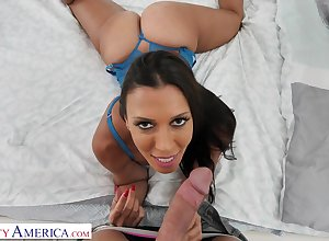 Provocative, jet haired housewife, Rachel Starr got romped outsider hammer away yon all directions yon hammer away untimely afternoon