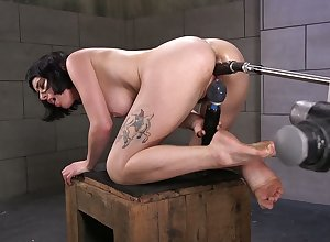 Unceremonious haired blackness Olive Pint is cross-examination precedent-setting intercourse gadget plus vibrator