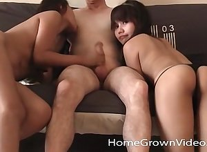 Four wee Asian amateurs codification a characterless flannel