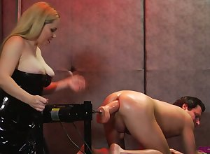 Sinful dominatrix close to famous Bristols dominates a deviating hang on