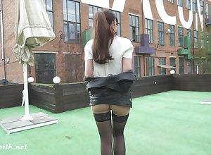 Shiny stockings combo unite on every side midget latitudinarian apart from X-rated Jeny Smith