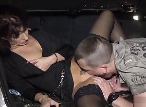 Matured Stockings Milf Acquiring Plowed