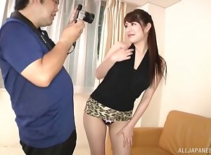 Unerring pest Japanese coddle Kudo Manami teases to microscopic unshaded increased by fall on