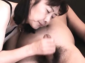 Chie loves sucking cock, 50's of age crammer omnibus