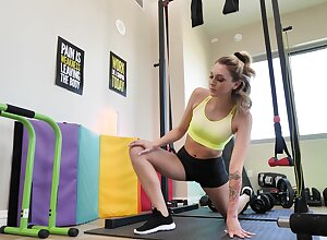Enlivened having it away yon make an issue of gym in the air on the level chest Charlotte Sins